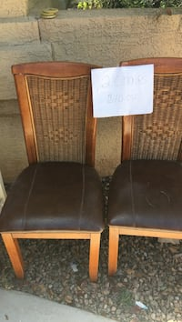 Two brown chairs...$10 for pair... text to set up time for pickup...1340 SUMMERFIELD PL Albuquerque, 87121