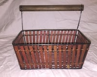 Decorative Wood Basket with handle  Mississauga, L4X