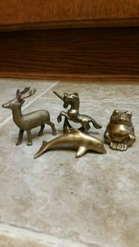 4 Old Brass Animals