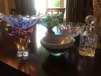 Lot of ceramic/crystal vases, bowl - $15 each Markham, L3R 9L4