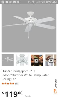 white Summer Breeze ceiling fan box