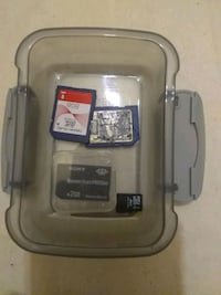 (MINI-BOX) OF 4 MISC MEMORY CARDS. Fayetteville, 28304