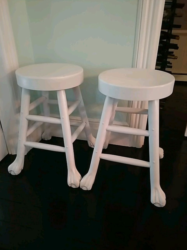 Groovy Two Clawfoot Bar Stools Caraccident5 Cool Chair Designs And Ideas Caraccident5Info