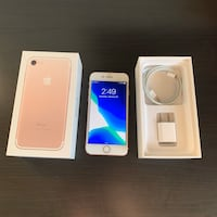 IPHONE 7 ROSE GOLD WITH BOX AND CHARGER Edmonton, T6K 3Z4