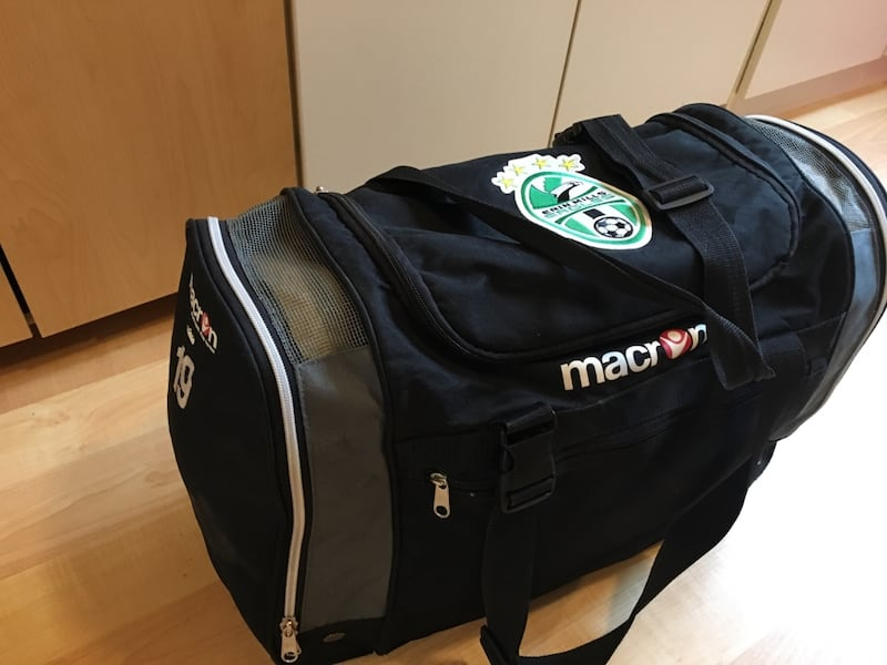 Macron $15 soccer bag with 19 on side 0