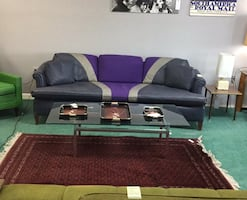 Custom Vintage Leather couch