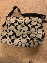 black and gray Coach monogram hobo bag Hagerstown, 21742