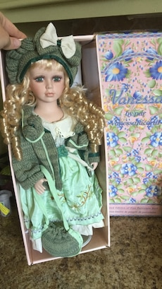 Porcelain doll Vanessa, by Vanessa Ricardi, limited edition with certificate of authenticity