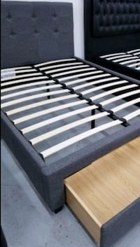 Brand New Queen Size Grey Storage Bed