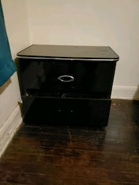Black and silver Night stand