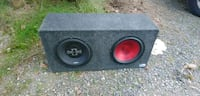 black and red subwoofer speaker Battle Ground, 98604