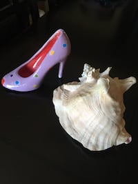 Conch shell & ceramic shoe