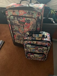 Suitcase and carry on