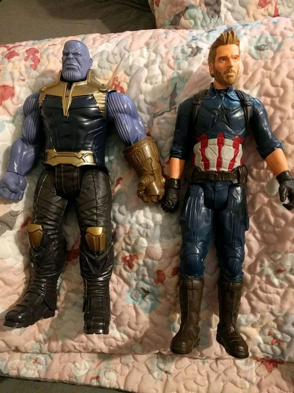 Thanos and Captain America figures