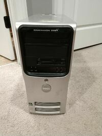 silver and black Dell computer tower