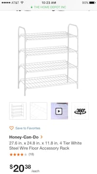 4 tier shoe rack New York, 10472
