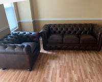 Hutchinson Leather Sofa and Chair Cohoes, 12047