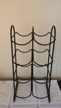 black metal wine rack - 8 bottles SPRINGFIELD