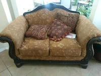 brown floral fabric sofa chair Palmdale, 93551