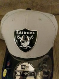 gray and black Oakland Raiders fitted cap Caledon, L7E 2E7