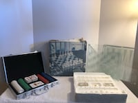 3 In 1 Crystal Game Set Chess Backgammon and Checkers and Deck of Card Las Vegas, 89104