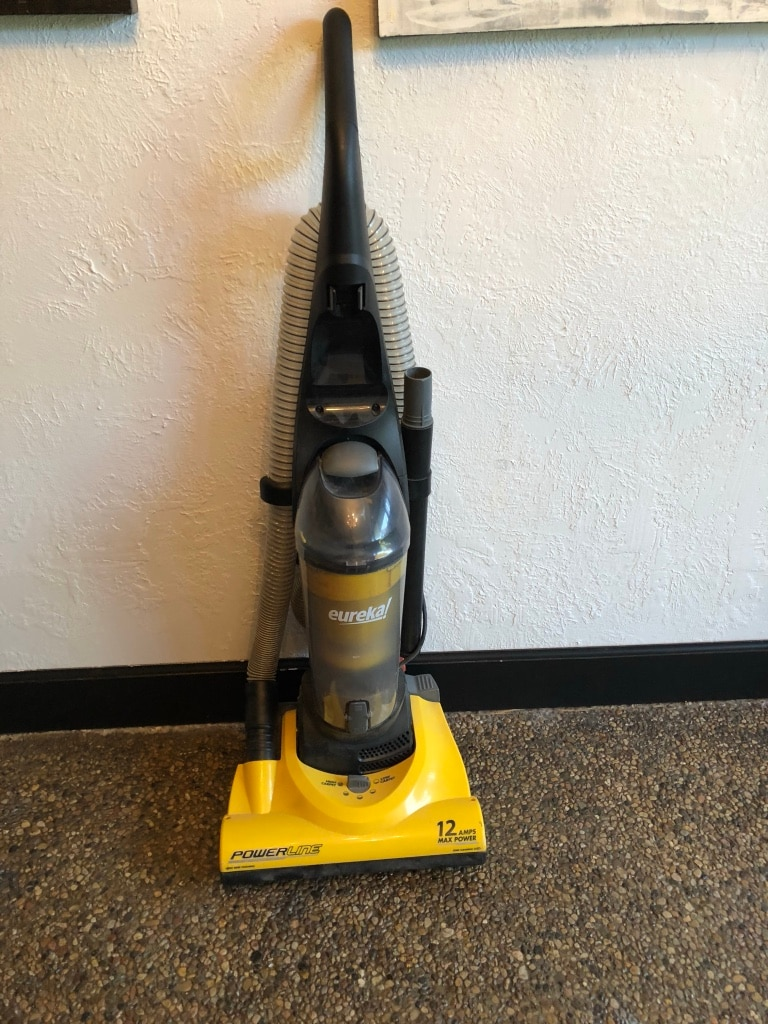 black and yellow Eureka upright vacuum cleaner, used for sale  West Valley City