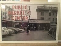 """Famous Pike place public market square of Seattle. Framed 32"""" x 22"""" Odenton, 21113"""