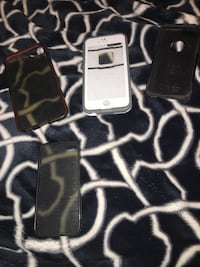 three black, and gray iPhone cases