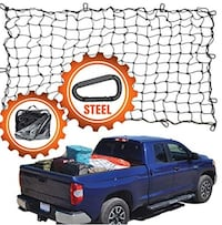 4'x6' Super Duty Truck Cargo Net for Pickup Truck Bed Stretches to 8'x