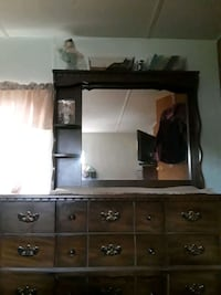 brown wooden dresser with mirror Aloha, 97007