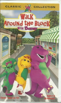 vhs Barney - Walk Around the Block with Barney  Tested!   Fast Shipping! Clamshell  (ref # bx2)