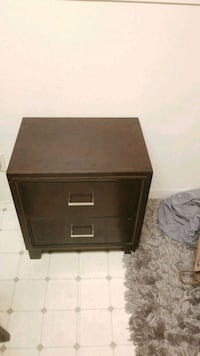 brown wooden 2-drawer nightstand Oakland, 94601