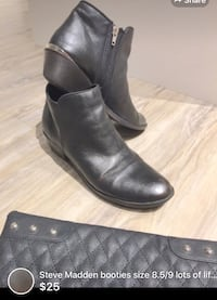 Steve Madden booties size 8.5/9 lots of life left comes smoke free home-super cute silver back detailing  London, N5W 6E4
