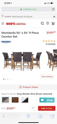 black and brown wooden dining set West Warwick, 02893