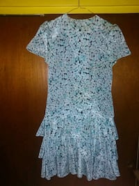 Ladies light blue flower print dress Baltimore, 21207
