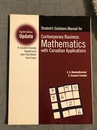 Mathematics with Canadian Applications - Solutions Manual Mississauga, L5N 6X1