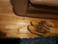 pair of brown leather work boots Boucherville, J4B 8P1