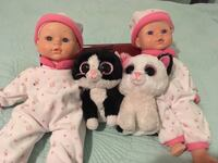 Two baby dolls and two cat plush toys Burbank, 91504