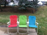 two green and red armchairs Farmington Hills, 48335