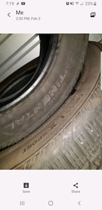 4x 285/45/18 CONTENTIAL TIRES TIRERACK 1250 PROOF INSIDE 100% TREAD