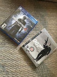 Uncharted 4 sony ps4 and 007 quantum of solace sony ps3 games