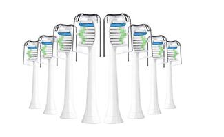 Brand New Seal in Box Toothbrush Heads - Interhomie 8 Pcs White Replacement Toothbrush Heads For Philips Sonicare Toothbrush Heads.Fits Plaque Control, Gum Health, Diamondclean, Flexcare, Easyclean