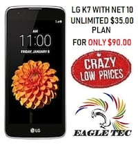 NEW LG K7 WITH 1 MONTH OF SERVICE  Allentown