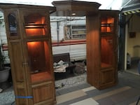 brown wooden cabinet with mirror Ontario, 91764