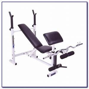 Bench Press (converts to incline and decline) with leg and arm attachments