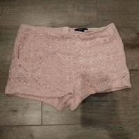 Baby pink lacy shorts (size L)