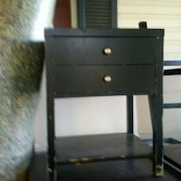 black wooden 2-drawer nightstand Park City, 67147