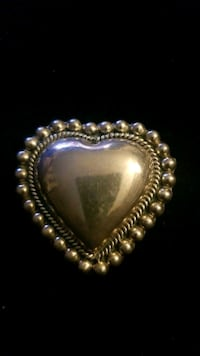 Sterling silver heart charm or pendant.from Mexico  Hyattsville, 20784