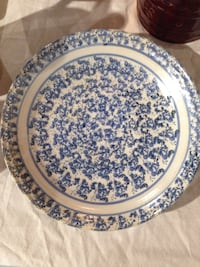 round white and blue floral ceramic plate Prince Edward