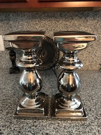 Two silver-colored candle holders Upper Marlboro, 20772